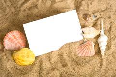 Notecard on beach Stock Photos