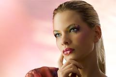 Beauty blond portrait Stock Photos
