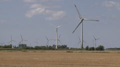 Green energy wind park - HD Stock Footage