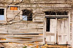 old, dilapidated building - stock photo