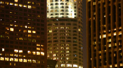 Time Lapse of Office Apartment Buildings in Los Angeles Stock Footage