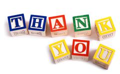 """thank you"" blocks - stock photo"