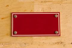blank red board sign - stock photo
