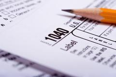 Tax preparation Stock Photos