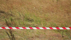 Barrier Tapes Stock Footage