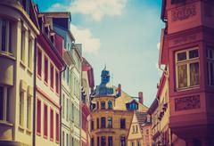 Stock Photo of retro look mainz old town