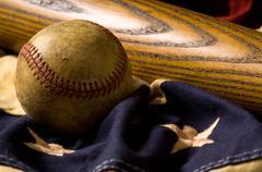 Vintage baseball tausta Kuvituskuvat