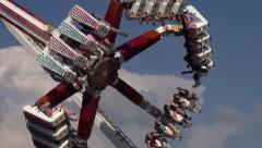 Spinning, Amusement Park Rides, Fun, Leisure - stock footage