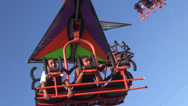 Stock Video Footage of Amusement Park Rides, Fun, Leisure