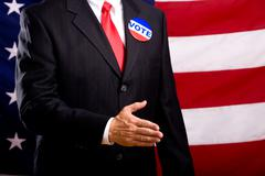 politician shaking hands - stock photo