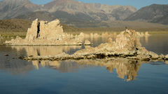 Tufa Formation on Scenic Mono Lake California - Time Lapse - stock footage
