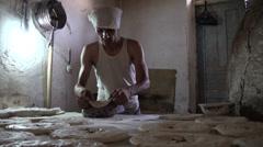 Bakery in Tajikistan Stock Footage