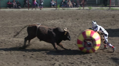 rodeo, bullfighter vs bull, #3 - stock footage