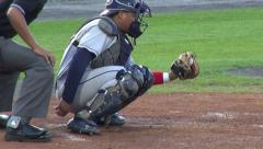 Stock Video Footage of Baseball Catcher, Players, Team, Sports