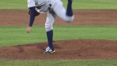 Baseball Pitcher's Legs, Pitching, Athletes, Sports Stock Footage