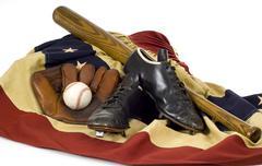 Vintage baseball vaihde Kuvituskuvat