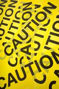 Caution tape background Stock Photos