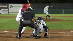 Baseball Batter Hits Ball, Success, Achievement - stock footage