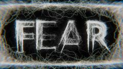 Fear - Word (HD) Stock Footage