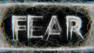 Stock Video Footage of Fear - Word (HD)