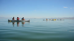 Canoe View on Mono Lake California Stock Footage