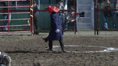 Rodeo, silly 3 legged rodeo clown dancing, #1 Stock Footage