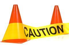 caution! - stock photo