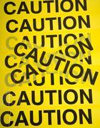 Caution tape background Stock Photos