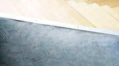 Vacuuming carpeting Stock Footage