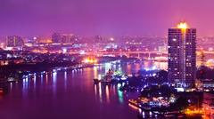 Stock Photo of bangkok city scape at nighttime