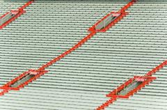 Empty sports stadium Stock Photos