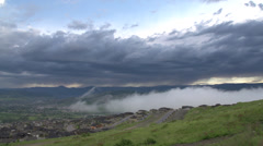 Time-lapse, early morning clouds roll in from north... Stock Footage