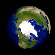 Digitally generated image of planet earth - stock illustration