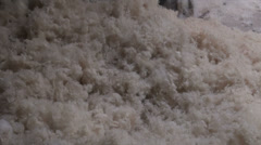 Cotton factory, pieces fall on the floor Stock Footage