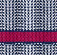 Style Saumaton Marine Blue Valkoinen Punainen väri neulottu Pattern Piirros
