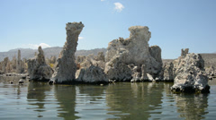 Canoe View on Mono Lake California - stock footage