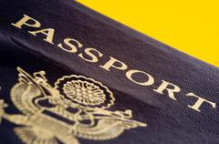 united states passport - stock photo