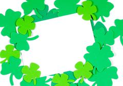 st. patrick's day note blank notecard - stock photo