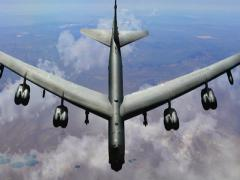 b52 stratofortress bomber - stock footage