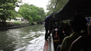 Stock Video Footage of Bangkok Canal Boat Ride 6425