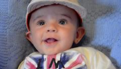 Baby boy in hat Stock Footage