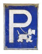 dog parking - stock photo