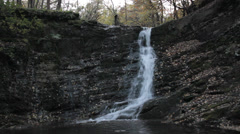 beutiful waterfall - stock footage