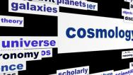 Stock Video Footage of Cosmology scientific message hd animation