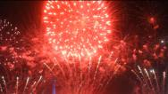 Stock Video Footage of Colorful fireworks at holiday night