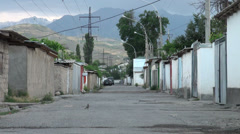 Early morning in suburbs of Dushanbe Stock Footage