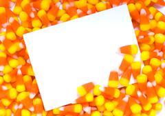 candy corn notecard - stock photo
