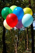 Colored air balloon Stock Photos