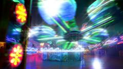 Funfair carousel twisting with dreamy look 11069 Stock Footage