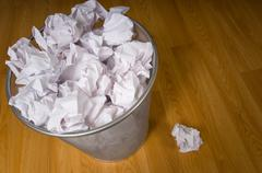 Overflowing trashcan Stock Photos
